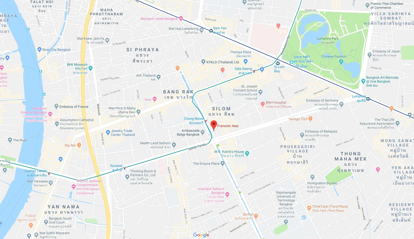 Get Direction with Google Maps | Bangkok PR Agency - The ...